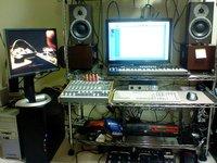 レイアウト変更後の自宅スタジオ