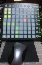 Novation Launchpad とマウス