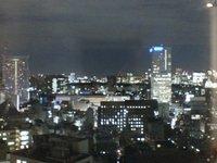 喫煙所から見える夜景